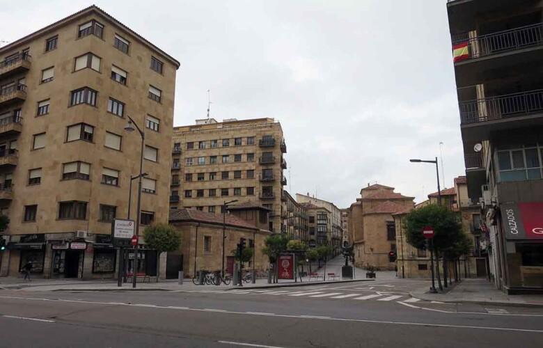 salamanca calles vacias 26 abril coronavirus estado alarma confinamiento