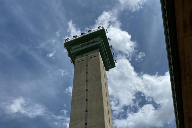 Torre del centro penitenciario de Topas, Salamanca.