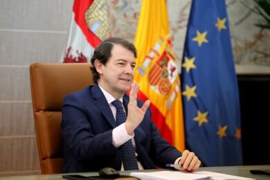 Leticia Pérez / ICAL . El presidente de la Junta de Castilla y León, Alfonso Fernández Mañueco, participa en la Conferencia de Presidentes