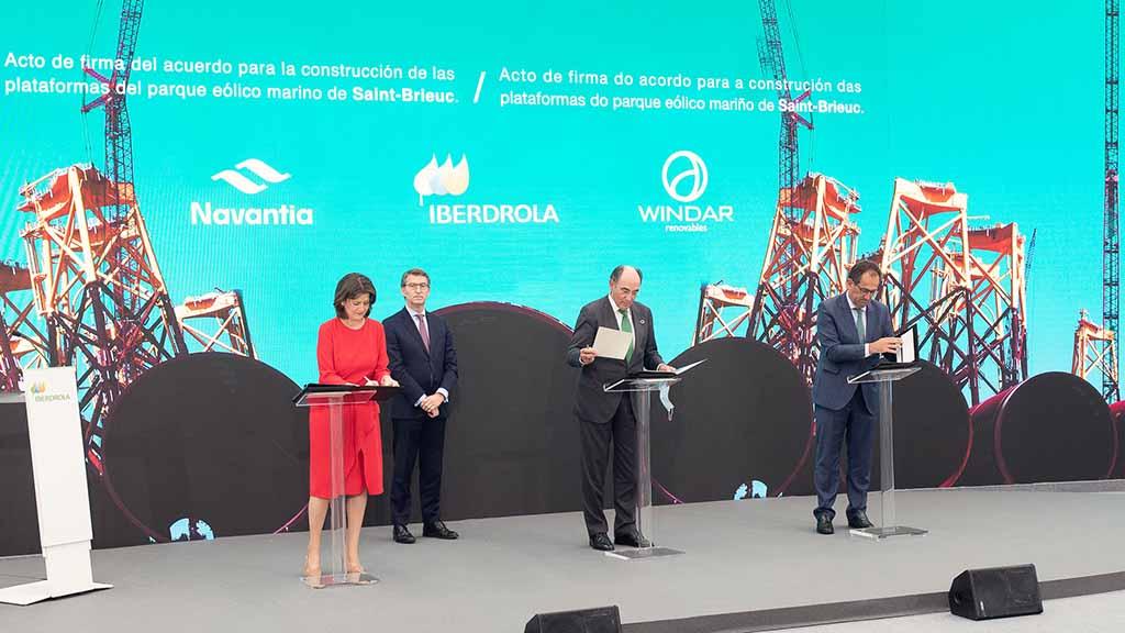 Iberdrola adjudica a Navantia-Windar el mayor contrato de eólica marina de su historia por valor de 350M€.