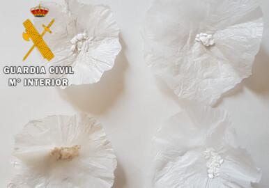 Las dosis de cocaína incautadas por la Guardia Civil de Ciudad Rodrigo.
