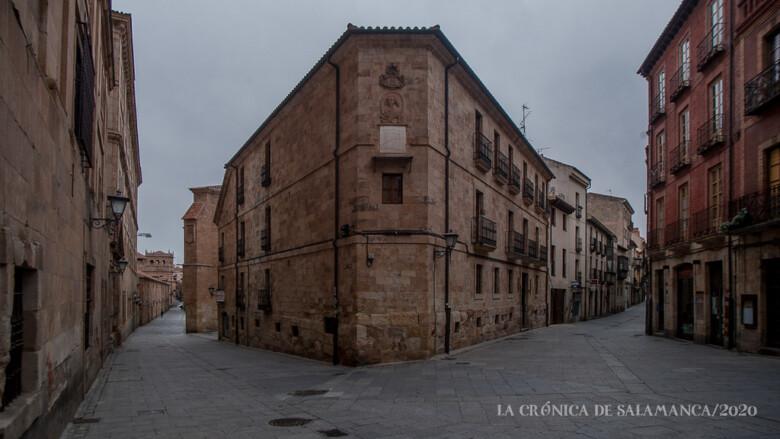 Las calles Compañía y Meléndez, dos de las más transitadas por los turistas, vacías durante la pandemia.