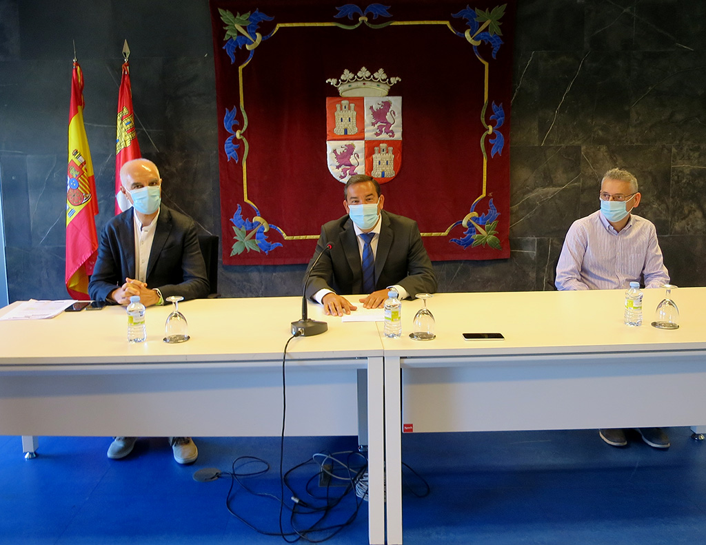 De Izq a drcha. Juan Carlos Martín, Eloy Ruiz y Pedro Manjón.