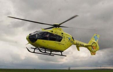 El herido fue trasladado al hospital de Salamanca en helicóptero.