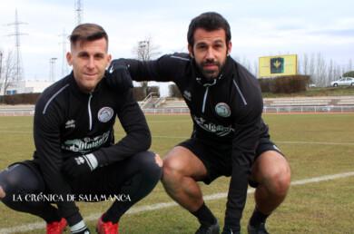 Gongora y Portilla, dos de los jugadores de Unionistas que no siguen la próxima temporada.