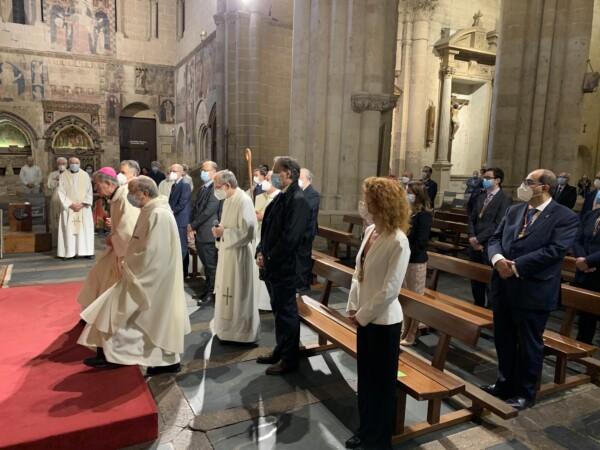 La Catedral Vieja acogió la misa en honor del patrono de Salamanca, San Juan de Sahagún,.