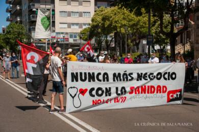 Manifestación en defensa de la Sanidad Pública en Salamanca.