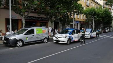 Policías Locales en el lugar donde ocurrieron los hechos.