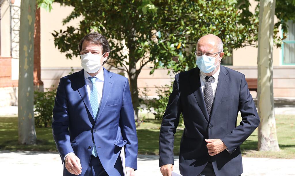 Rubén Cacho / ICAL . Alfonso Fernández Mañueco y Francisco Igea hacen balance del primer año de Gobierno.