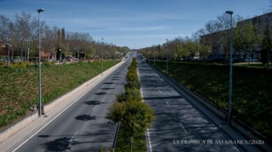 Una de las avenidas de Salamanca durante el estado de alarma. Foto. Archivo.