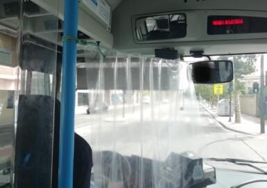 autobus urbano mampara anti coronavirus