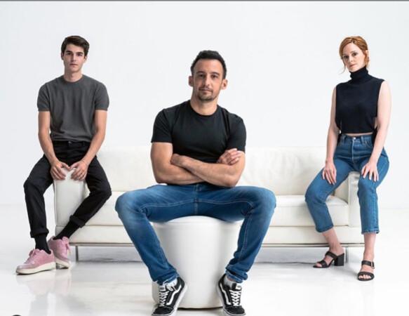 El salmantino Álvaro Mel, Alejandro Amenábar y Ana Polvorosa.