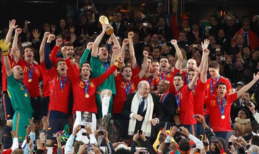 españa celebra mundial