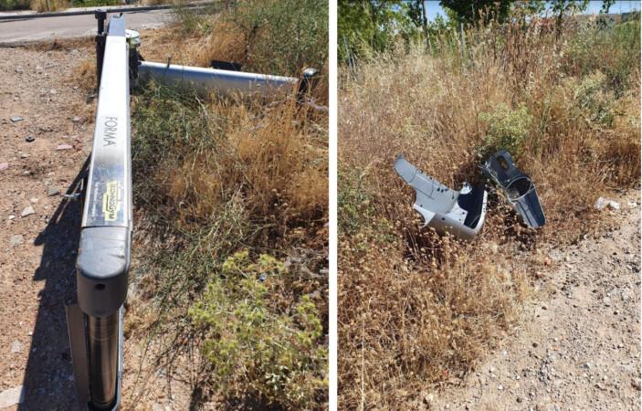 La cinta de correr rota y tirada en el vertedero ilegal de El Zurguen.