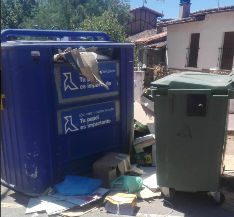 sequeros 2 contendores reciclaje