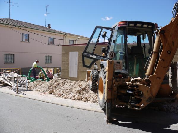 Urbanización en las calles centro urbano de Carbajosa.
