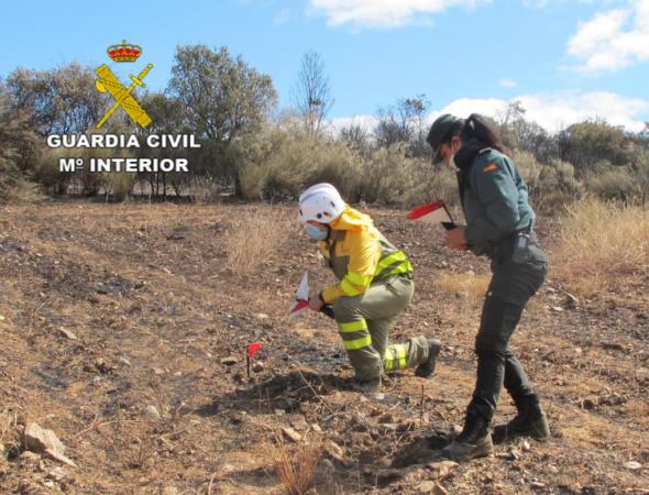 ICAL. La Guardia Civil investiga a dos personas por el incendio forestal de Lober de Aliste (Zamora)