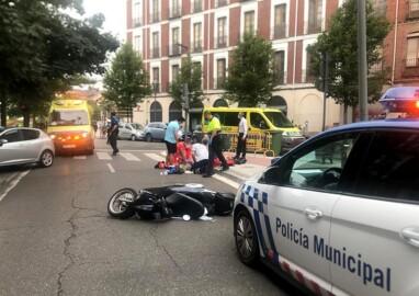 acidente motorista muerto valladolid ical