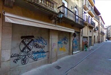 Pintadas en la calle Consuelo, Salamanca.