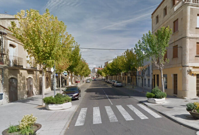 Calle Lorenza Iglesias, en Ciudad Rodrigo. Foto