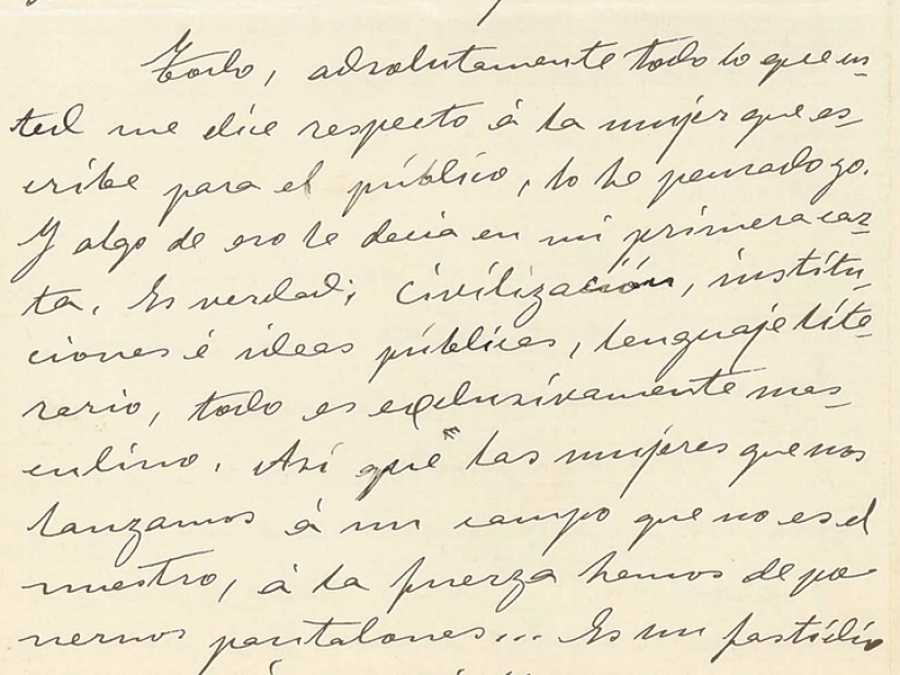 Carta de Ángela Barco. Fondo epistolar de la Casa-Museo Unamuno. Universidad de Salamanca.