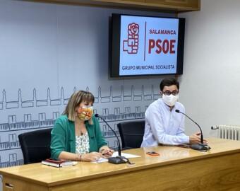 María García y José Luis Mateos, concejales del Grupo Municipal Socialista.