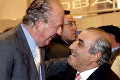 Juan Carlos I y Juan José Hidalgo.