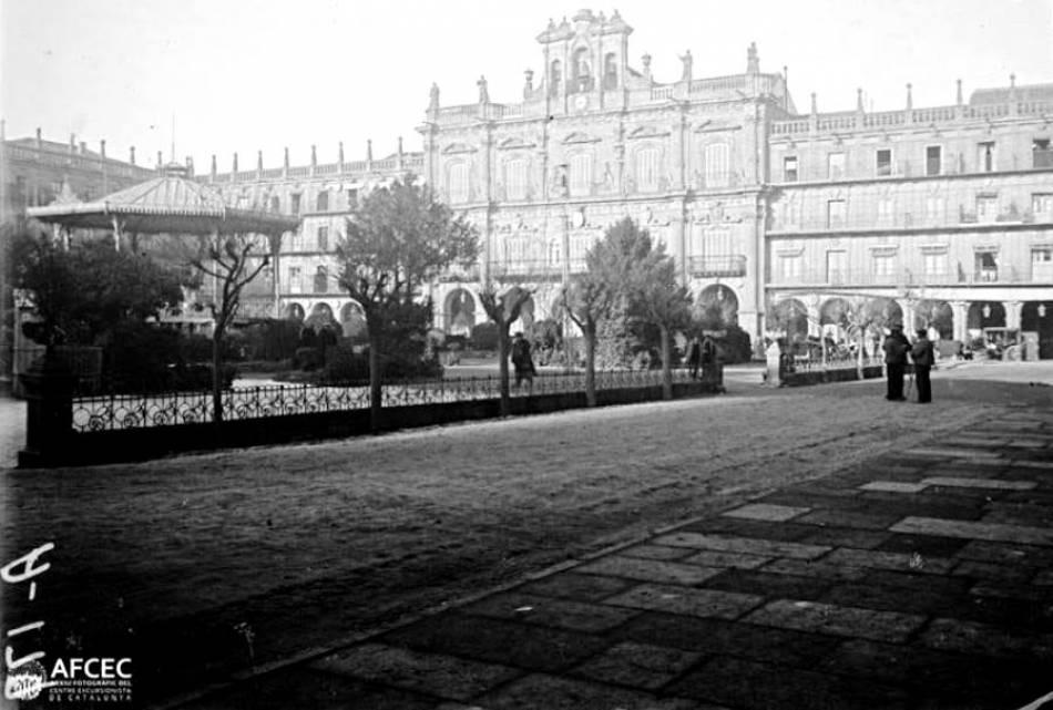 Plaza Mayor de Salamanca. Fotografía de Joaquín Marcel y Nart