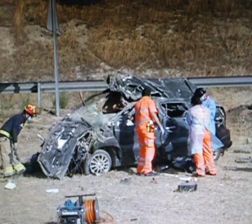 Una persona muere en un accidente en la A-62. Foto. 112Emergencias.
