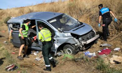 VICENTE. ICAL. Accidente de tráfico ocurrido en Ciudad Rodrigo. (1)