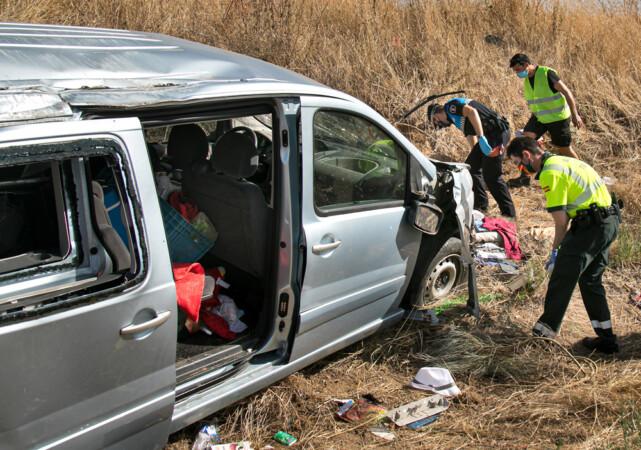 VICENTE. ICAL. Accidente de tráfico ocurrido en Ciudad Rodrigo. (2)