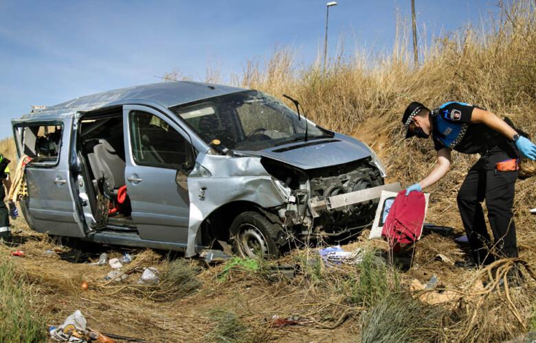 VICENTE. ICAL. Accidente de tráfico ocurrido en Ciudad Rodrigo. (3)