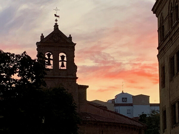 Atardecer en Salamanca.