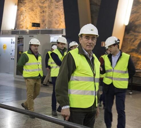 El presidente de Iberdrola, Ignacio Galán, visita Aldeadávila