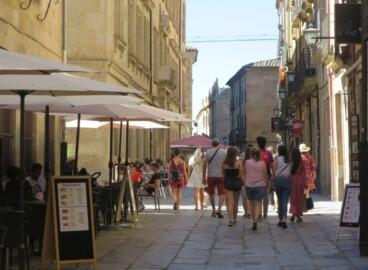 turistas calle libreros