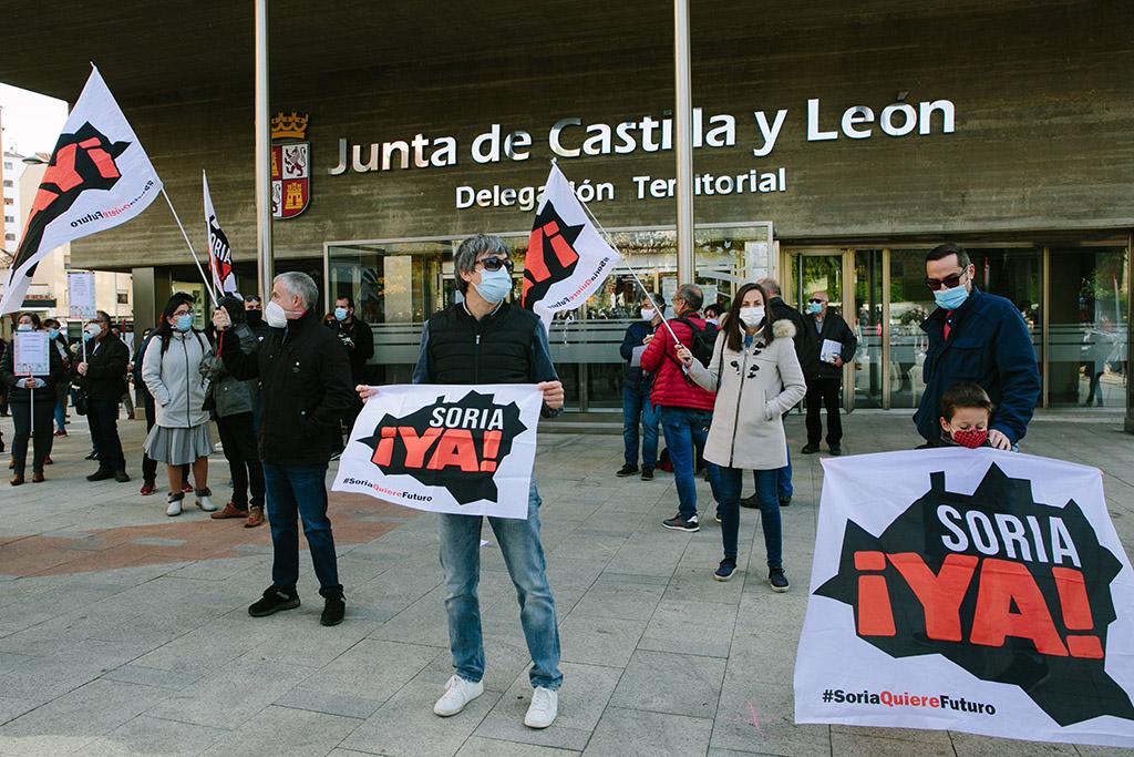Concha Ortega / ICAL . Concentración convocada por Soria ¡Ya! en defensa de la Sanidad