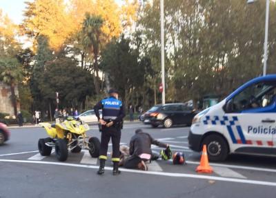 Herida una persona en un accidente en la plaza de España.