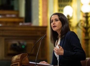 Inés Arrimadas, presidenta de Cs, en el Congreso.