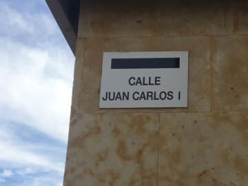 La calle de Santa Marta con el nombre del rey emérito.