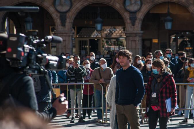 Jordi Cruz, uno de los presentadores de Masterchef, en la Plaza Mayor.