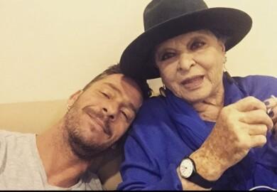 Nacho Palau con Lucía Bosé. Foto. Instagram Nacho Palau.