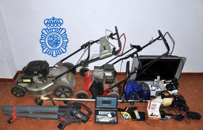 La Policía Nacional de Béjar recupera en Lagunilla los objetos robados.