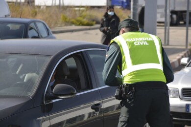 Control de la Guardia Civil. FOTO. ARCHIVO.