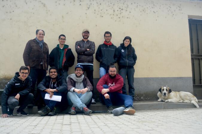 El equipo de la Universidad de Salamanca que rodó el cortometraje premiado, Montesco.