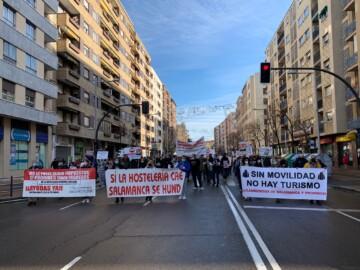 Multitudinaria manifestación de los autónomos de Salamanca.