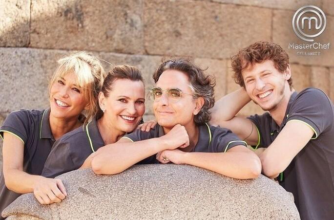 Raquel Meroño, Ainhoa Arteta, Josie y Nicolás Coronado, concursantes de Masterchef Celebrity.