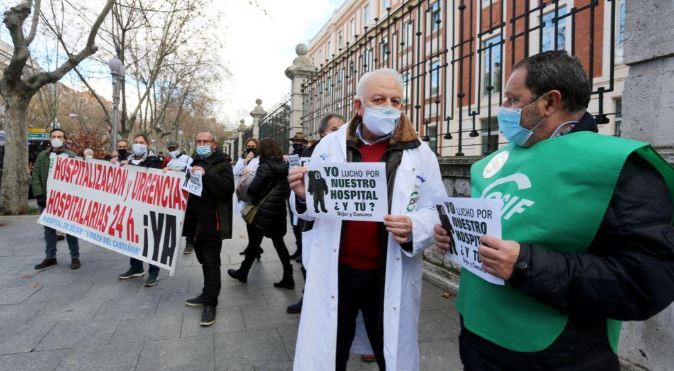 bejar protesta hospital firmas consejeria sanidad ical