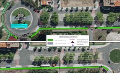 carril bici calle alcaldes