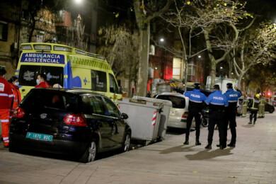 Leticia Pérez. ICAL . Policía Nacional y Local en la calle General Shelly, número 7, de Valladolid.