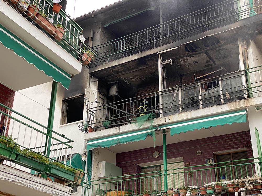 Ricardo Muñoz ICAL . Explosión en una vivienda de El Tiemblo.